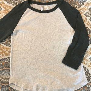 H&M Raglan 3/4 sleeve T shirt